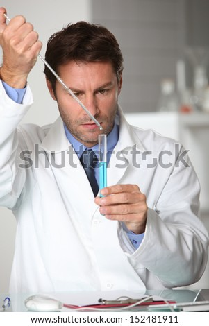 Laboratory technician - stock photo