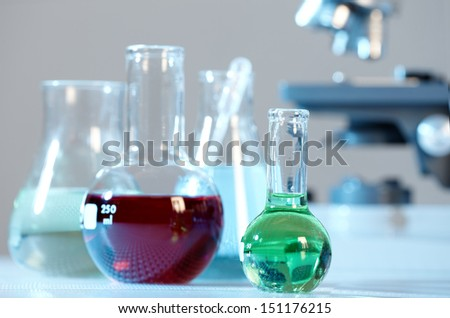 Laboratory test tube. Scientific research background.