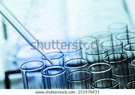 laboratory test tubes - stock photo