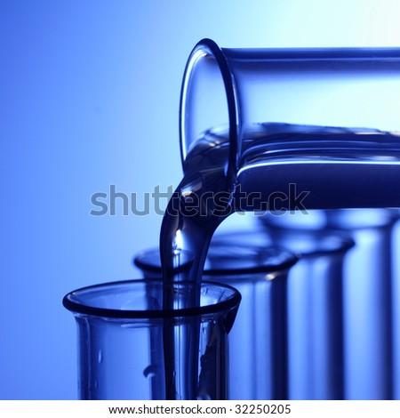 laboratory test tubes - stock photo
