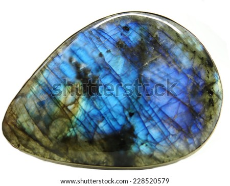 labradore geological crystal isolated - stock photo