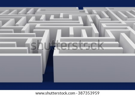 labyrinth business complicated game concept strategy  - stock photo