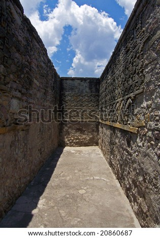 Labyrinth dead-end - stock photo