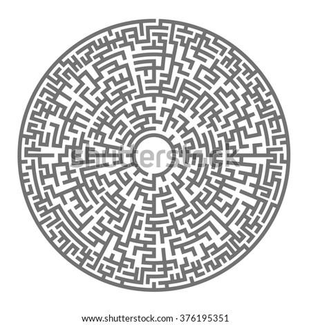 Round Maze Labyrinth Entry Exit Find Stock-vektorgrafik 330683711 ... Tipps Labyrinth Irrgarten Anlegen Kann