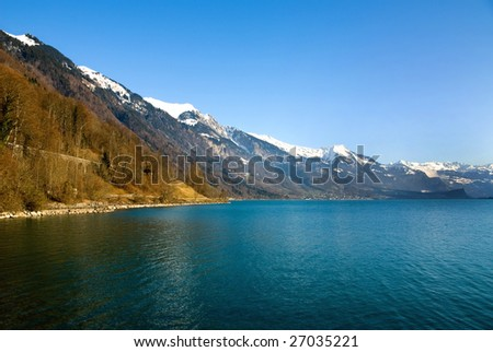 Lac Leman, Switzerland, on a fine winter's day