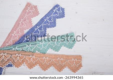 lace border - stock photo