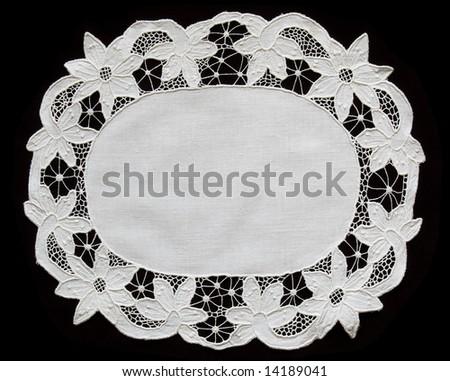 lace doily - stock photo