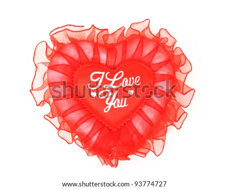lace heart pillow - stock photo
