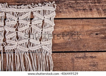 lace on the wooden background - stock photo
