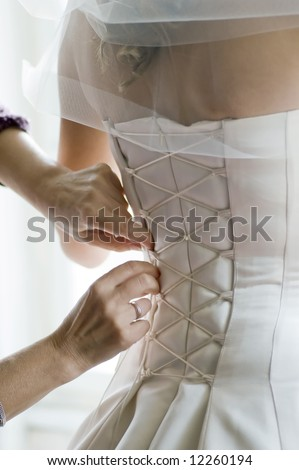 lace up corset - stock photo