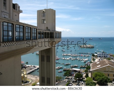 Lacerda Elevator Salvador Brazil - stock photo