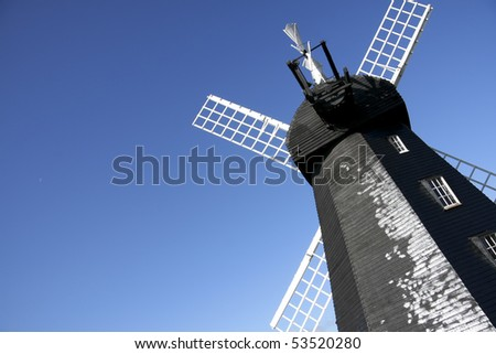 lacey green windmill near high wycombe in buckinghamshire enlgand, dating from around 1650 it is the oldest smock windmill in the country - stock photo