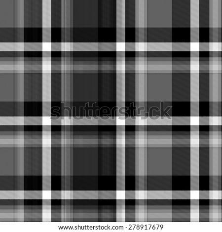 lack and white Tartan seamless background - stock photo