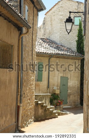 Lacoste the hill top village in Provence - stock photo