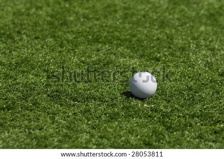 Lacrosse ball on grass 1