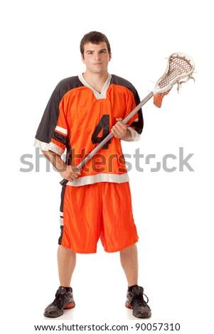 Lacrosse Player - stock photo