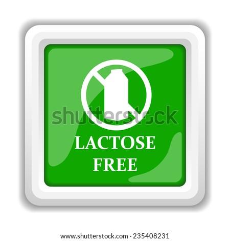 Lactose free icon. Internet button on white background.  - stock photo
