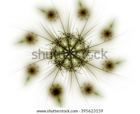 Lacy colorful clockwork pattern, digital fractal art design - stock photo