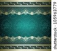 Lacy design with dark green background (jpg); EPS10 version also available - stock photo