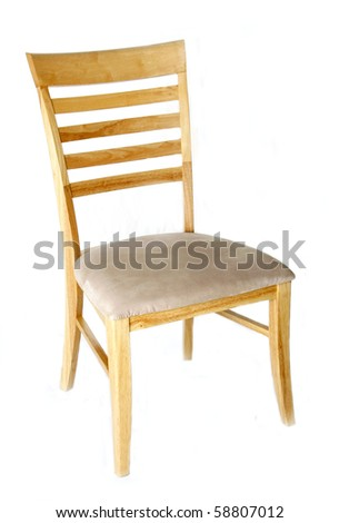 Ladder Back Dining Room Chair Isolated on White