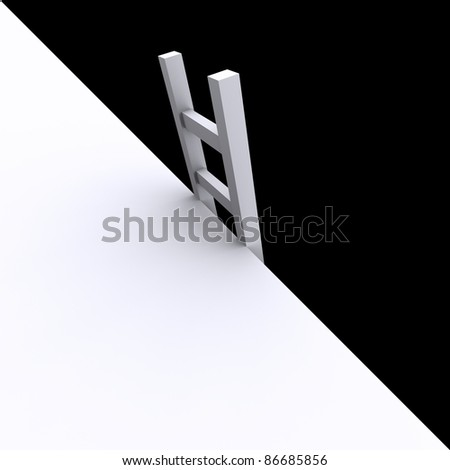 ladder into the abyss - stock photo