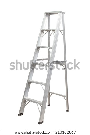 Ladder isolated . - stock photo
