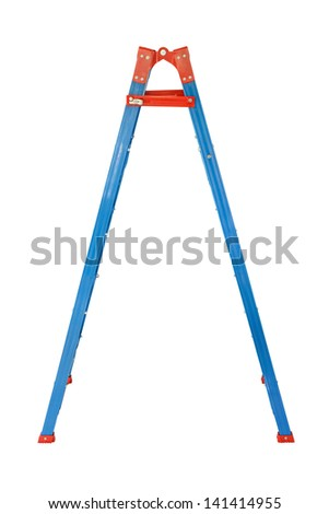 Ladder Isolated on white background - stock photo