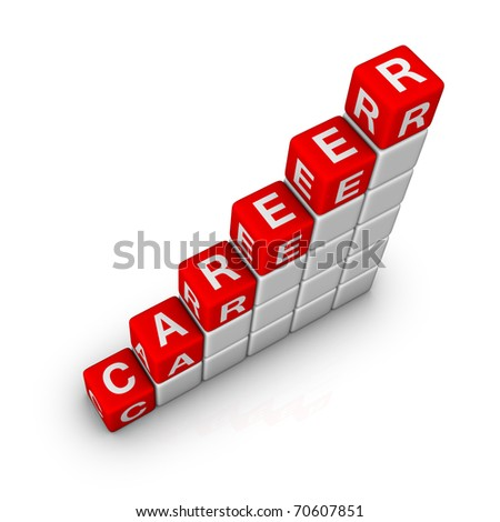 Ladder of Career - stock photo