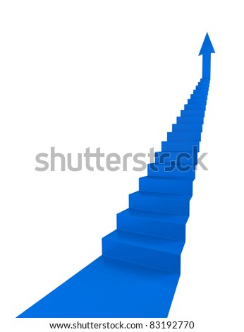 ladder of success - see variations in portfolio - stock photo