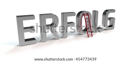 ladder of success - symbolic 3D rendering - german version - stock photo