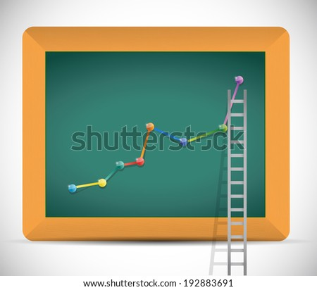 ladder to business profits illustration design over a white background - stock photo