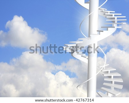 Ladder to paradise - stock photo