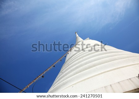 Ladder to Top of White Pagoda at Wat Prayoon in Bangkok, Cultural Heritage Conservation Award of Excellence by Unesco