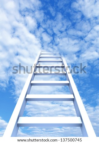 ladder way to heaven - stock photo