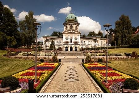 LADEK ZDROJ, POLAND - JUNI 21, 2014: Ladek Zdroj is a town in Klodzko County, Lower Silesian Voivodeship, in south-western Poland.  - stock photo
