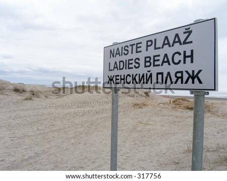Ladies beach sign in Pärnu