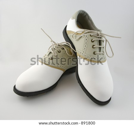 Ladies Golf Shoes - stock photo
