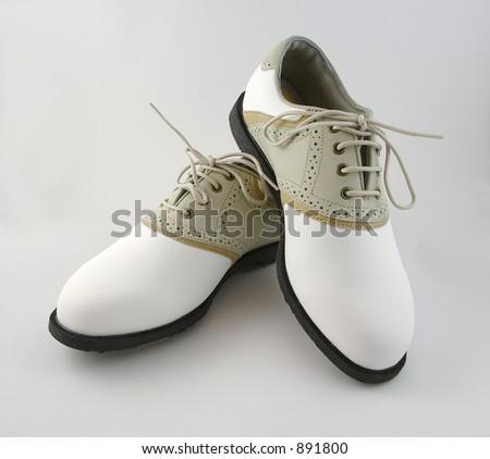 Ladies Golf Shoes - stock photo