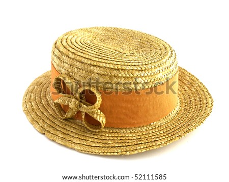 ladies hat on white isolated background
