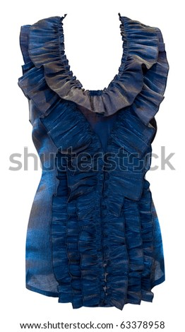 ladies light blouse with frills, isolated, clipping path