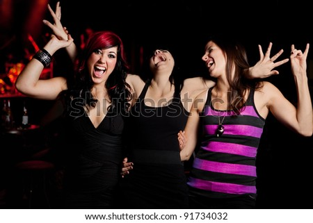 Ladies Night at the nightclub - stock photo