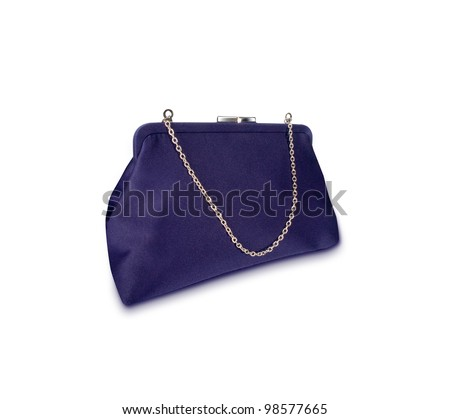 Ladies purple  purse isolated on white background