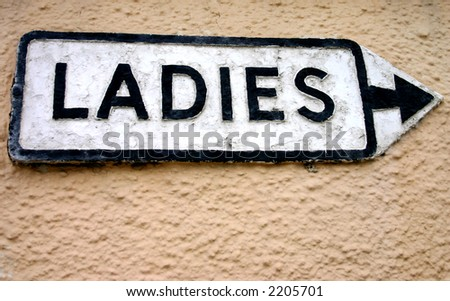 Ladies sign. - stock photo