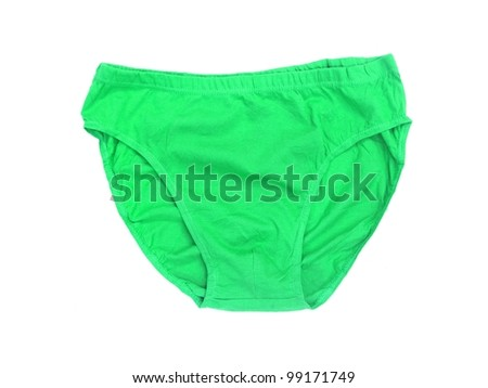 Ladies underwear isolated against a white background