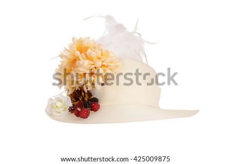 ladies Victorian hat - stock photo