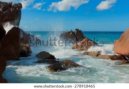 LaDigue Stones Natural Wonder  - stock photo