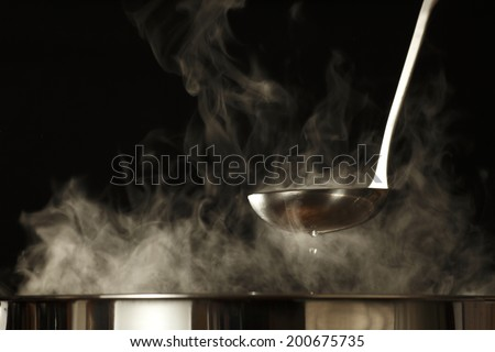 Ladle and pot