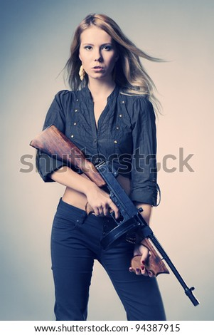 Lady and her gun