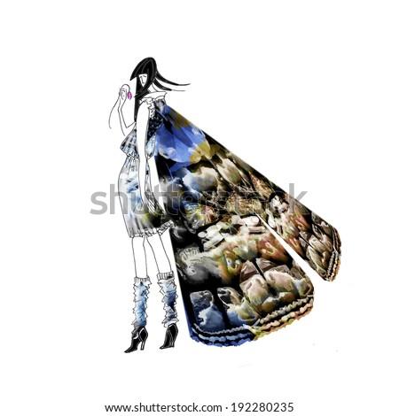 Lady butterfly  - stock photo