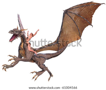 lady dragon hands up - stock photo